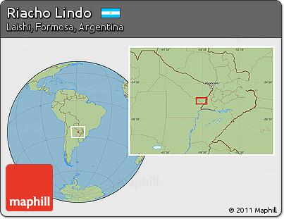 Savanna Style Location Map of Riacho Lindo