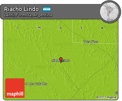 Physical Map of Riacho Lindo