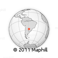 Outline Map of General Mansilla, rectangular outline