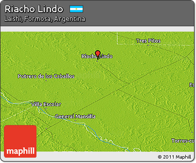 Physical Panoramic Map of Riacho Lindo