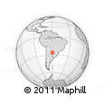 Outline Map of Puerto El Zapallar, rectangular outline