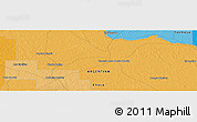 "Political Panoramic Map of the area around 26° 30' 51"" S, 59° 25' 29"" W"