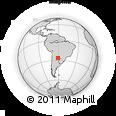 Outline Map of Aviá Terai, rectangular outline