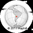 Outline Map of Santa Rosa, rectangular outline
