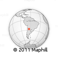 Outline Map of Las Tipas, rectangular outline