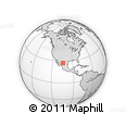 Outline Map of Las Pampas, rectangular outline