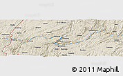 Shaded Relief Panoramic Map of Miping