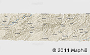 Shaded Relief Panoramic Map of Liangfeng