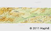 Physical Panoramic Map of Qingyang