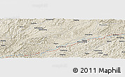 Shaded Relief Panoramic Map of Qingyang