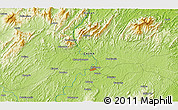 """Physical 3D Map of the area around 27°19'44""""N,111°25'30""""E"""