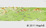 """Physical Panoramic Map of the area around 27°19'44""""N,111°25'30""""E"""
