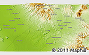 """Physical 3D Map of the area around 27°19'44""""N,112°58'29""""W"""
