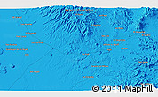 """Political 3D Map of the area around 27°19'44""""N,112°58'29""""W"""