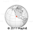 Outline Map of Emiliano Zapata, rectangular outline