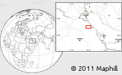 """Blank Location Map of the area around 27°19'44""""N,48°31'29""""E"""