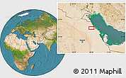 """Satellite Location Map of the area around 27°19'44""""N,48°31'29""""E"""