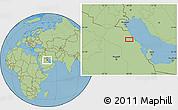 "Savanna Style Location Map of the area around 27°19'44""N,48°31'29""E"