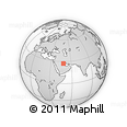 """Outline Map of the Area around 27° 19' 44"""" N, 48° 31' 29"""" E, rectangular outline"""