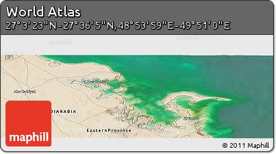 "Satellite Panoramic Map of the Area around 27°19'44""N,49°22'30""E"