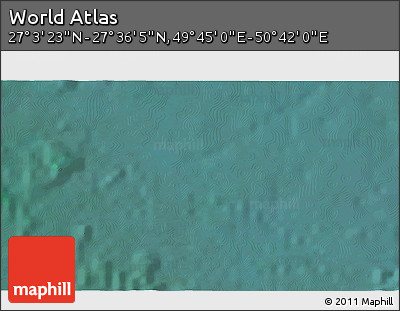 """Satellite 3D Map of the Area around 27°19'44""""N,50°13'30""""E"""