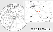 """Blank Location Map of the area around 27°19'44""""N,50°13'30""""E"""