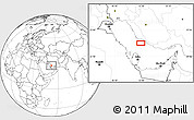 """Blank Location Map of the area around 27°19'44""""N,51°55'29""""E"""