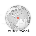 """Outline Map of the Area around 27° 19' 44"""" N, 51° 55' 29"""" E, rectangular outline"""
