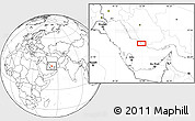 """Blank Location Map of the area around 27°19'44""""N,52°46'29""""E"""