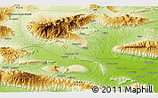 """Physical 3D Map of the area around 27°19'44""""N,55°19'30""""E"""