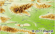 """Physical Map of the area around 27°19'44""""N,55°19'30""""E"""