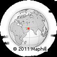 Outline Map of Mīnāb, rectangular outline
