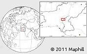 Blank Location Map of Lārkāna