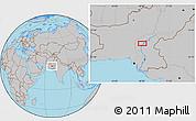 Gray Location Map of Lārkāna