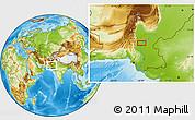 Physical Location Map of Lārkāna