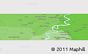 Political Panoramic Map of Lārkāna