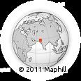 Outline Map of Mangarko, rectangular outline
