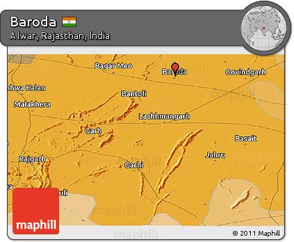 Baroda India Map.Free Political Panoramic Map Of Baroda