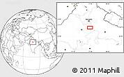 Blank Location Map of Mathura