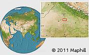Satellite Location Map of Mathura