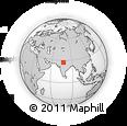 Outline Map of Mathura, rectangular outline