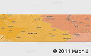 Political Panoramic Map of Mathura