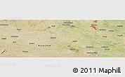Satellite Panoramic Map of Mathura