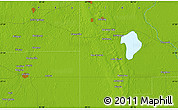Physical Map of Lake Placid