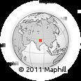 Outline Map of Barhni, rectangular outline
