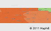 Political Panoramic Map of Barhni