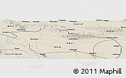 Shaded Relief Panoramic Map of Khada