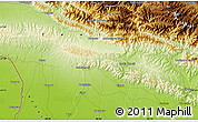 """Physical Map of the area around 27°19'44""""N,85°4'29""""E"""