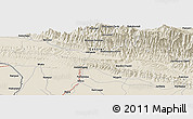 Shaded Relief Panoramic Map of Simra