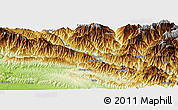 """Physical Panoramic Map of the area around 27°19'44""""N,85°55'30""""E"""